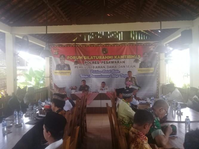 Polres Pesawaran Gelar Forum Silaturahmi Kamtibmas untuk Pemilu Damai