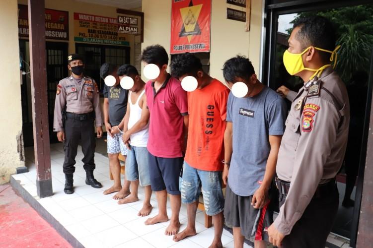 Polres Pringsewu Amankan 5 Pelaku Penyalahgunaan Sabu