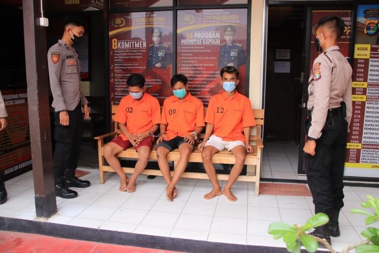 Polres Pringsewu Tangkap Tiga Orang Penyalahguna Sabu