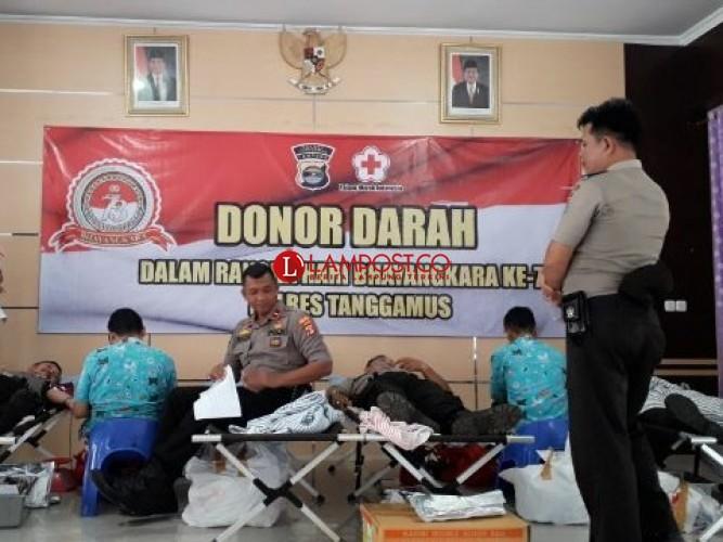Polres Tanggamus Gelar Bhakti Sosial Donor Darah
