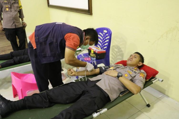 Polres Tuba Gelar Donor Darah Antisipasi Stok PMI Menipis
