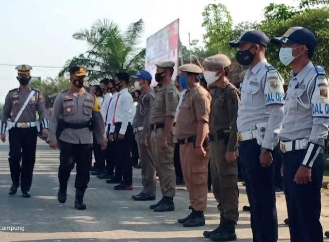 Polres Tubaba Gelar Operasi Disiplin Prokes Warga selama 14 Hari