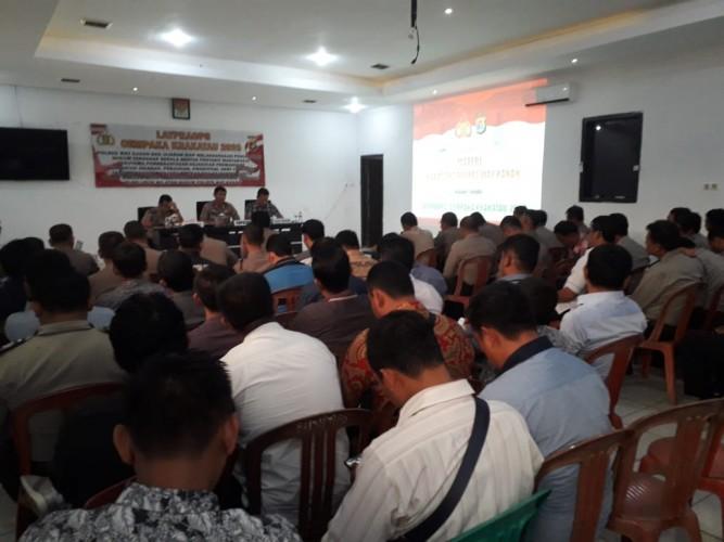 Polres Way Kanan Latihan Pra Operasi Cempaka 2020