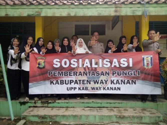Polres Way Kanan Sosialisasikan Saber Pungli kepada Siswa SMPN 5 Blambangan Umpu
