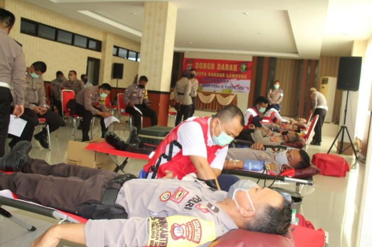 Polresta Gelar Donor Darah Bantu Persediaan PMI