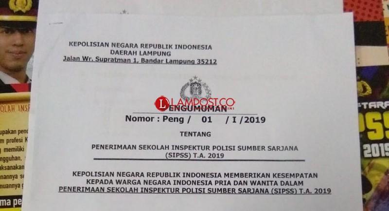 Polri Buka Penerimaan Sekolah Inspektur Polisi