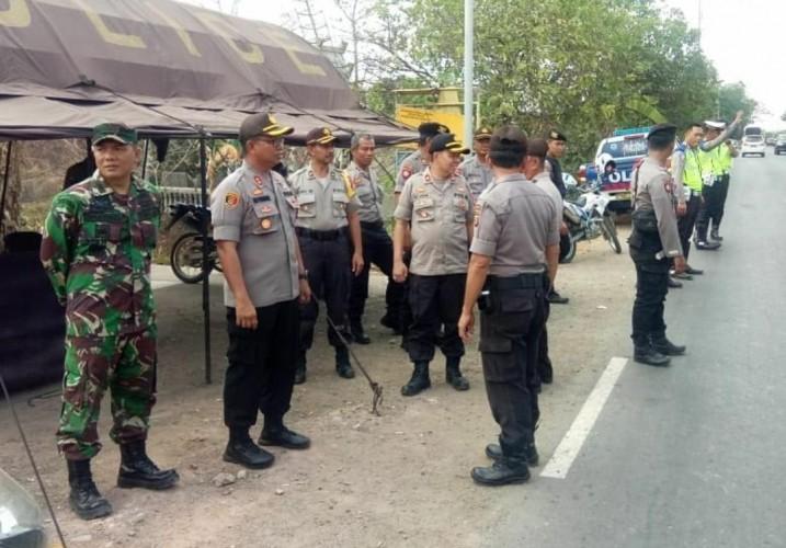 Polri dan TNI di Mesuji Gelar Patroli Jelang Pelantikan Presiden