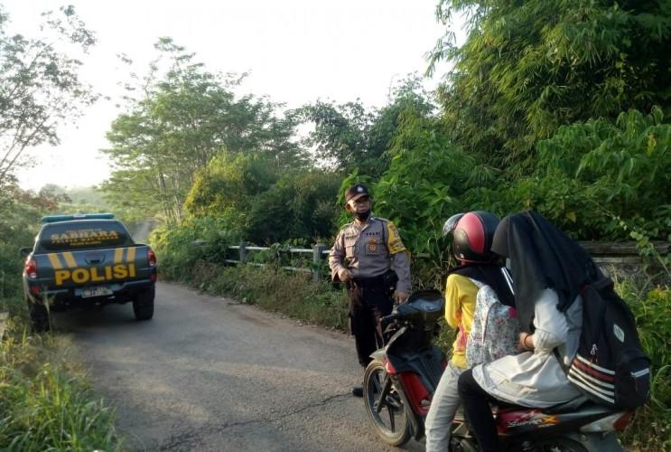 Polsek Blambangan Umpu Patroli Wilayah Rawan Kriminalitas
