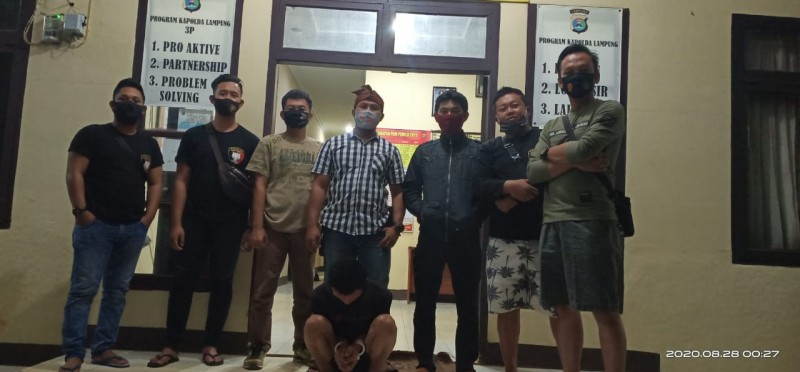 Polsek Bukit Kemuning Ringkus Buronan Kasus Begal di Way Kanan