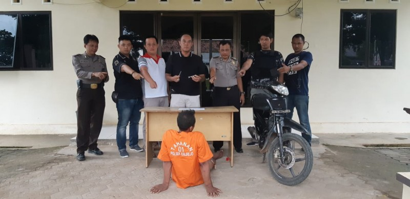 Polsek Kalirejo Tangkap Pencuri Motor Kurang dari 24 Jam