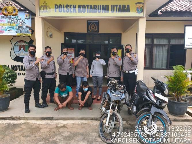 Polsek Kotabumi Utara Tangkap Dua Pencuri Sepeda Motor