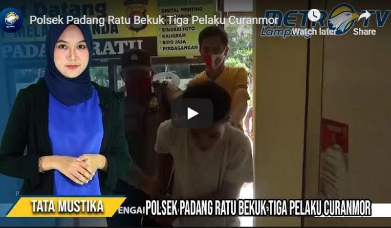 Polsek Padangratu Bekuk Tiga Pelaku Curanmor