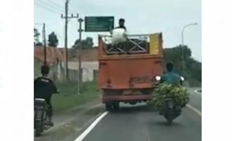 Polsek Tanjungbintang Intai Bajing Loncat di Jalan Sutami