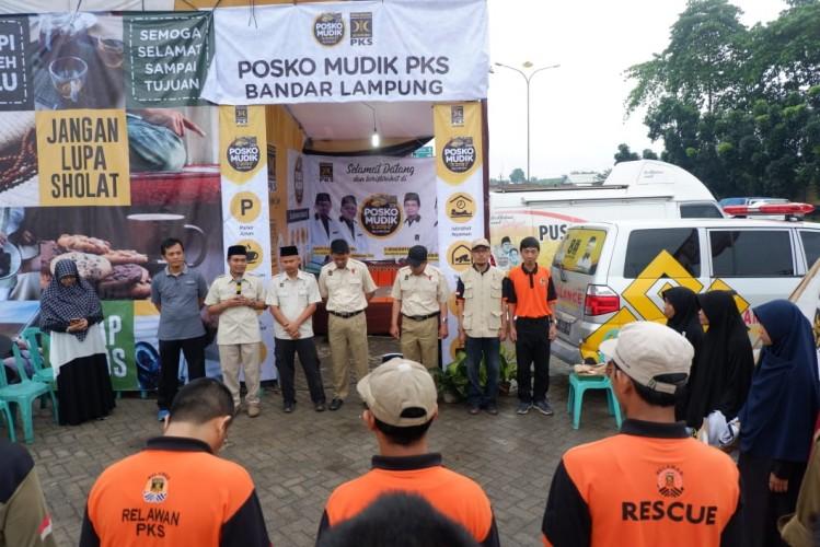Posko Mudik PKS Lampung Resmi Dibuka
