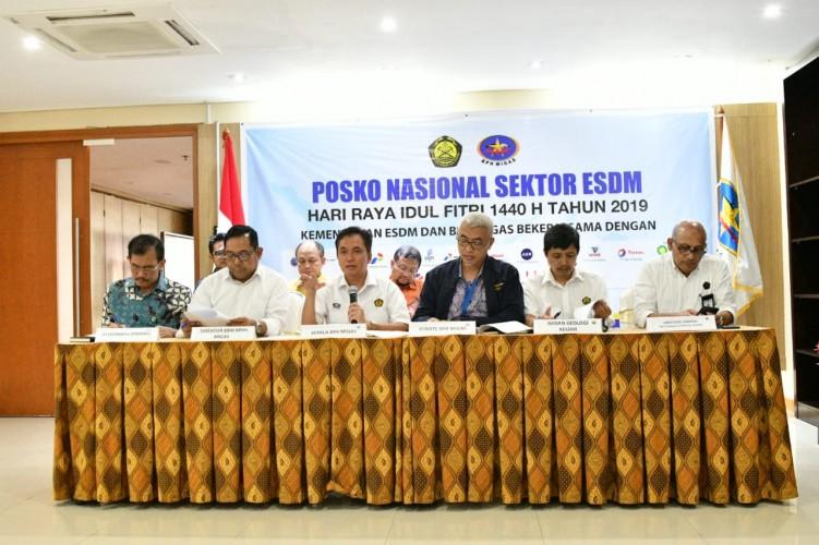 Posko Nasional ESDM Paparkan Kondisi Selama Lebaran