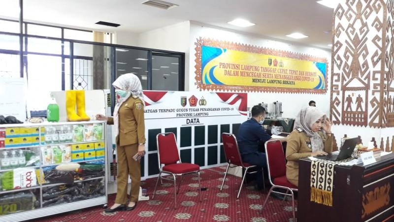 Posko Terpadu Covid-19 Pemprov Lampung <i>Standby</i> 24 Jam