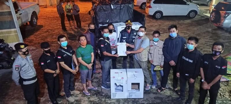 PPK di Way Kanan Tuntaskan Penyerahan Kotak Suara