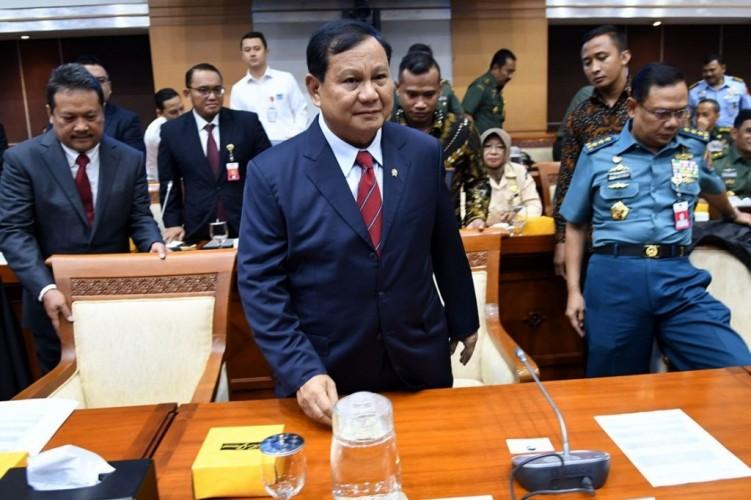 Prabowo dan DPR Rapat Tertutup Bahas Alutsista