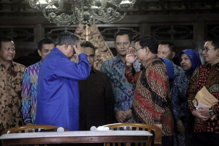 Prabowo Mendatangi SBY Bahas Soliditas Demokrat