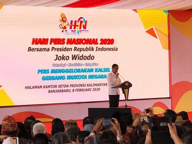 Presiden Jokowi Ucapkan Selamat Hari Pers