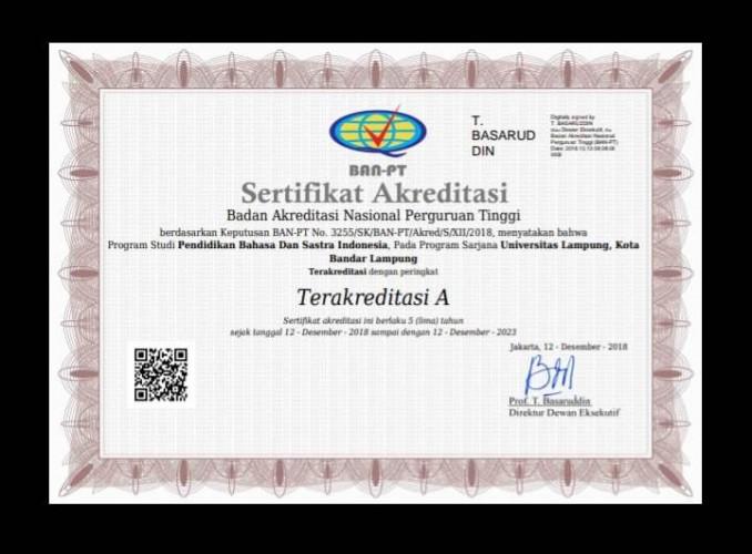 Prodi PBSI FKIP Unila Raih Akreditasi A