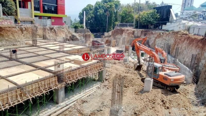 Progres Fisik 2 Lantai Gedung Parkir Bandar Lampung Capai 50 Persen