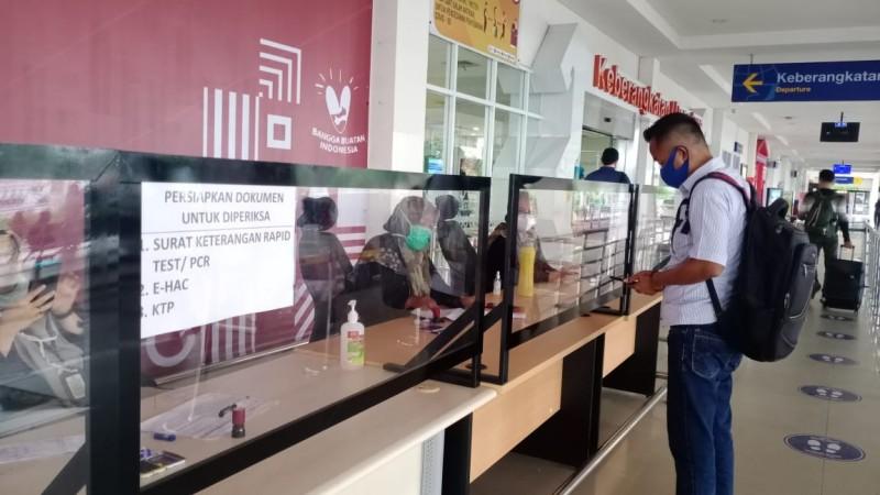 Protokol Kesehatan di Bandara Radin Inten II Diperketat