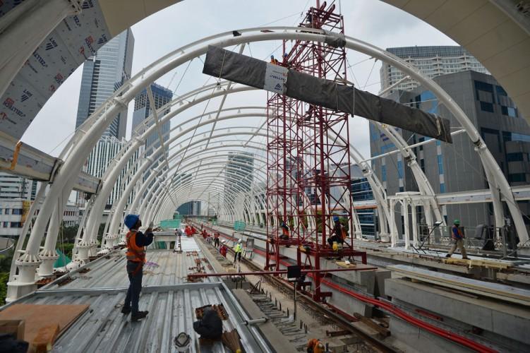 Proyek LRT Tetap Jalan di Tengah Wabah Covid-19
