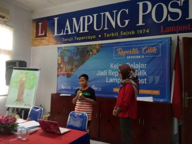 Psikolog Octa Reni Beri Motivasi Calon Reporter Cilik Lampung Post