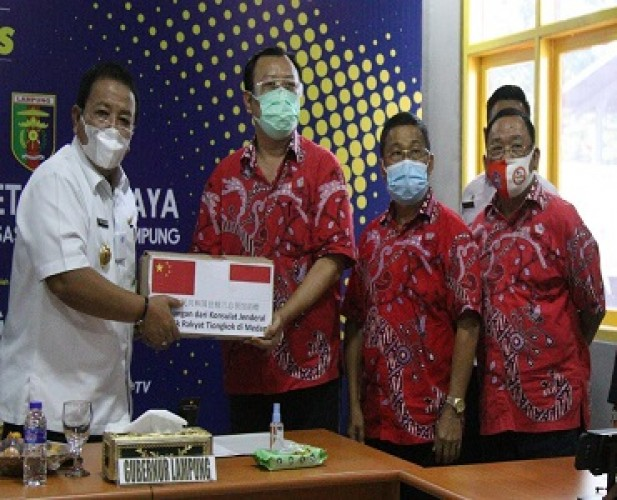 PSMTI Salurkan 500 Paket Sembako dari Tiongkok melalui Pemprov Lampung