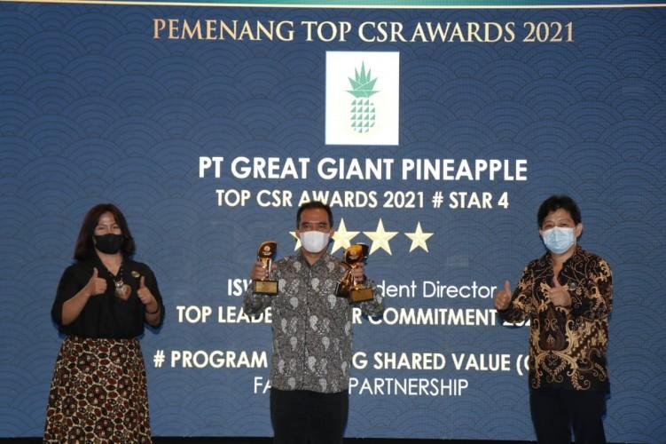 PT GGP Raih Tiga Champion Top CSR Award 2021