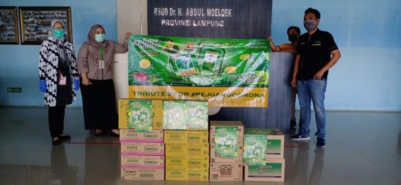 PT Marketama Indah Serahkan Donasi Vitamin C Untuk Tenaga Medis