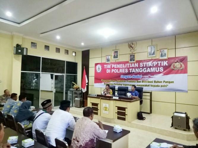PTIK Semarang Penelitian di Polres Tanggamus
