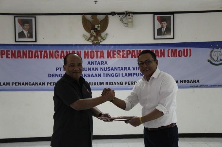 PTPN VII-Kejati Lampung Perpanjang Kerja Sama