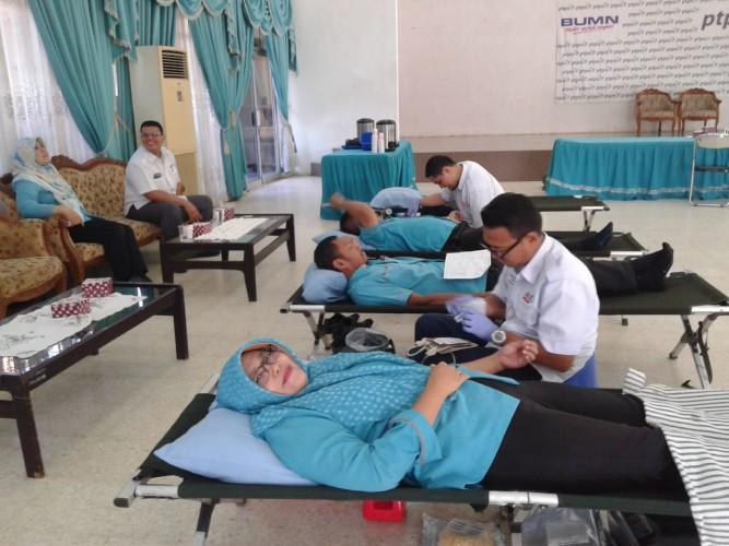 PTPN VII Kumpulkan 80 Kantong Darah