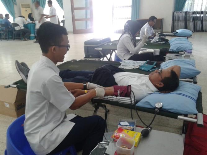 PTPN7 Kumpulkan 67 Kantong Darah