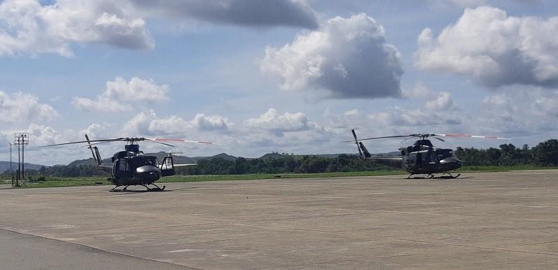 Puing Helikopter MI-17 Berada di Tebing Terjal