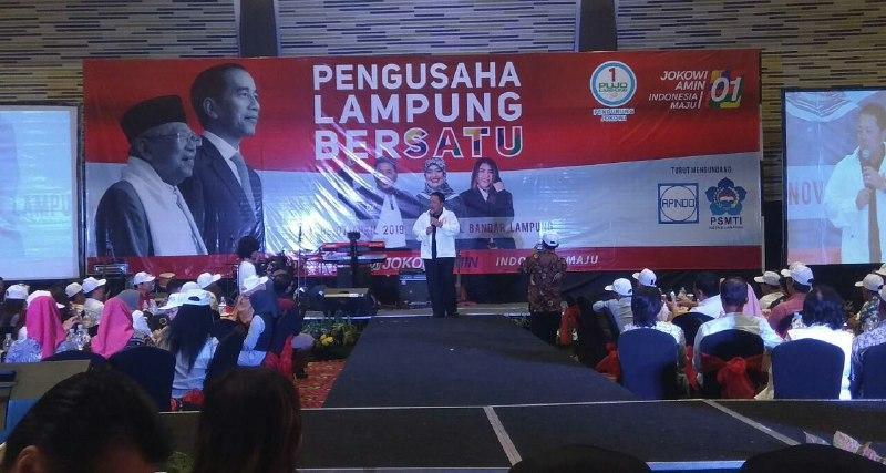 Pujo Lampung Gandeng PengusahaDukung Jokowi-Ma'ruf Amin