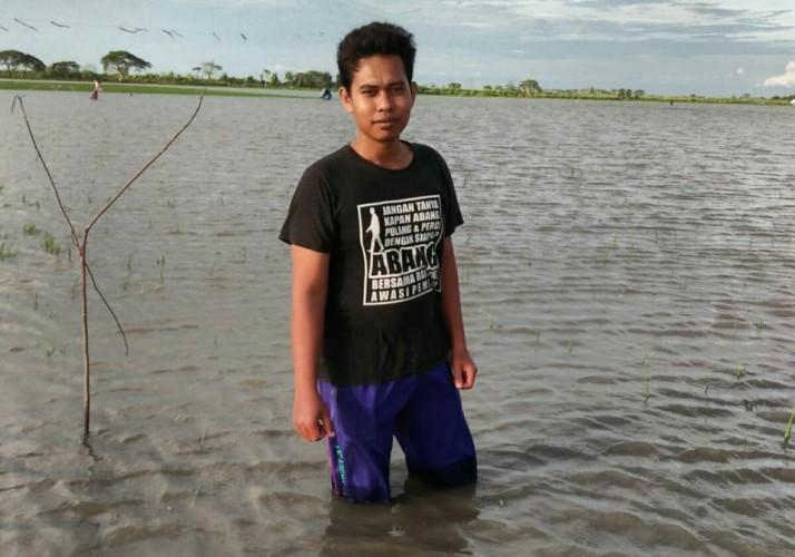 Puluhan Ha Tanaman Padi di Pulautengah Terendam Banjir