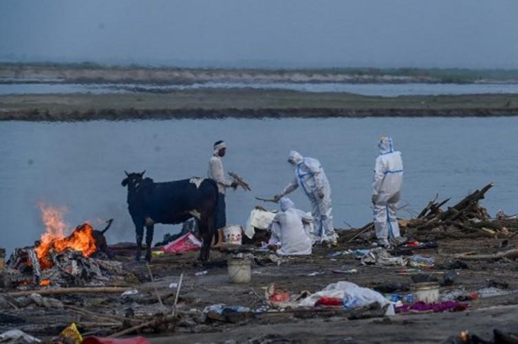 Puluhan Jenazah Bermunculan di Sungai Gangga