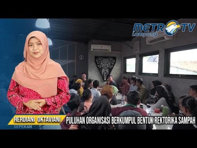 Puluhan Komunitas Bersatu Dalam Gerakan Rektorika Sampah