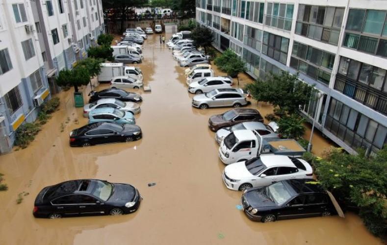 Puluhan Orang Meninggal Akibat Banjir di Korsel