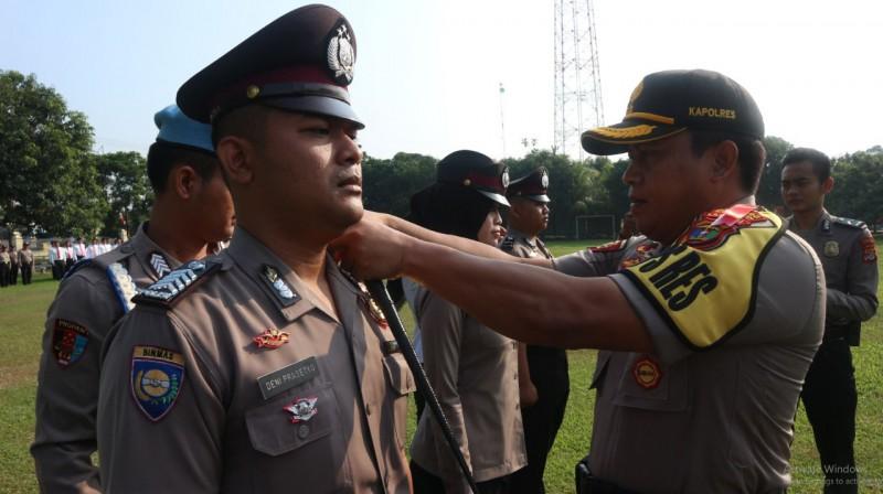 Puluhan Personel Polres Lampung Tengah Naik Pangkat