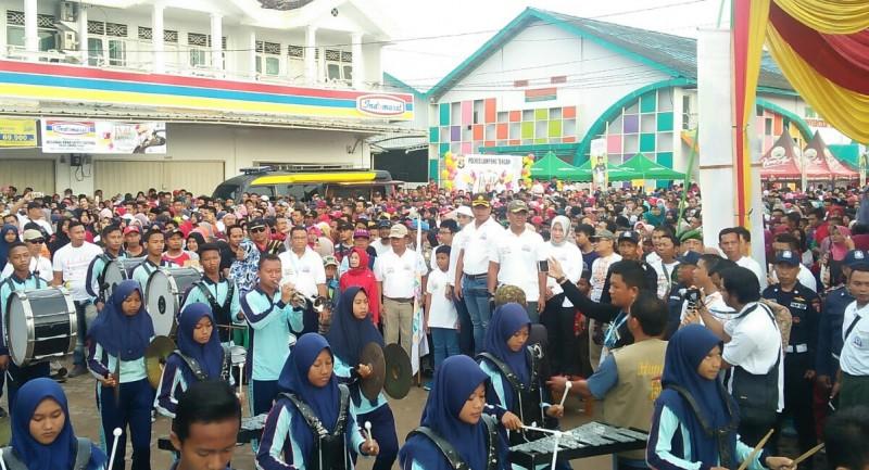 Puluhan Ribu Peserta Ramaikan Milenial Road Safety Festival di Lampung Tengah