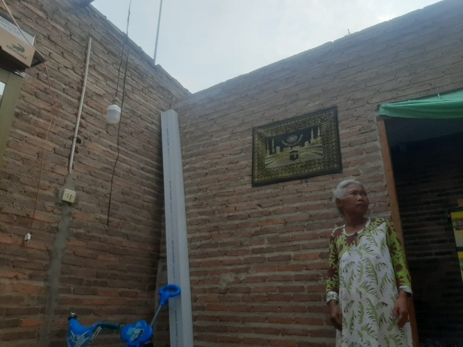 Puluhan Rumah Warga Panjang Bandar Lampung Rusak Disapu Puting Beliung
