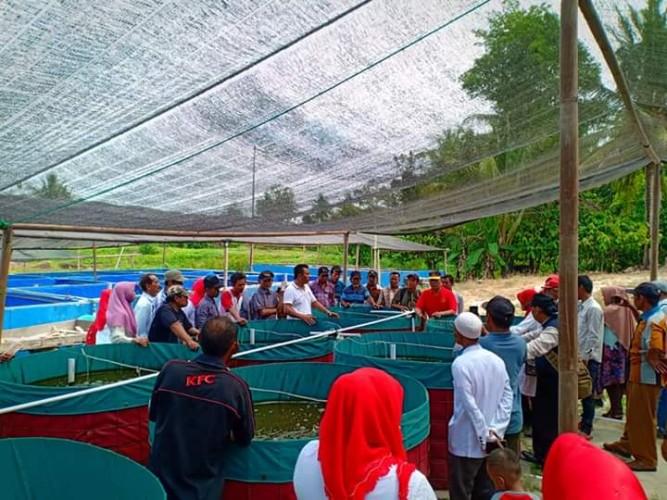 Puluhan Warga Natar Belajar Budidaya Ikan Lele Metode Bioflok