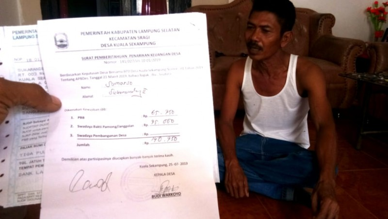Pungutan di Desa Kualasekampung Terjadi Sejak 1970