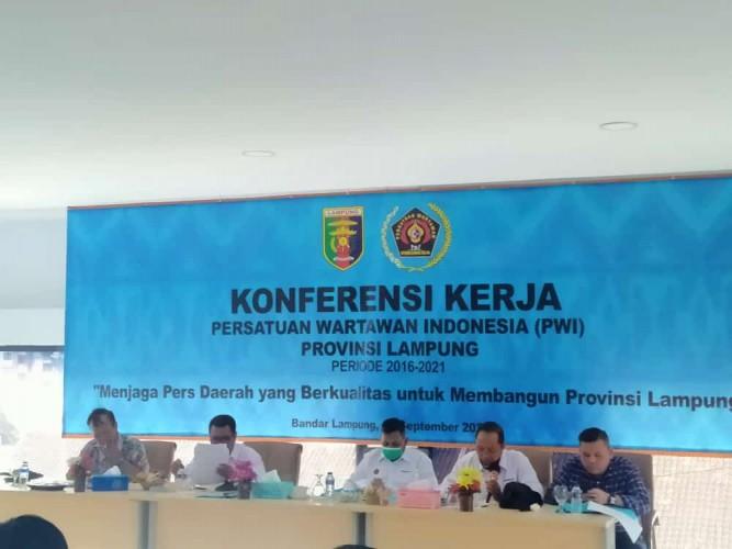 PWI Lampung Rumuskan Konferensi Kerja 2021-2026
