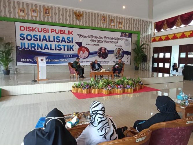 PWI Metro Gelar Diskusi Peran Media dan Jurnalis Memajukan Visi Kota Pendidikan