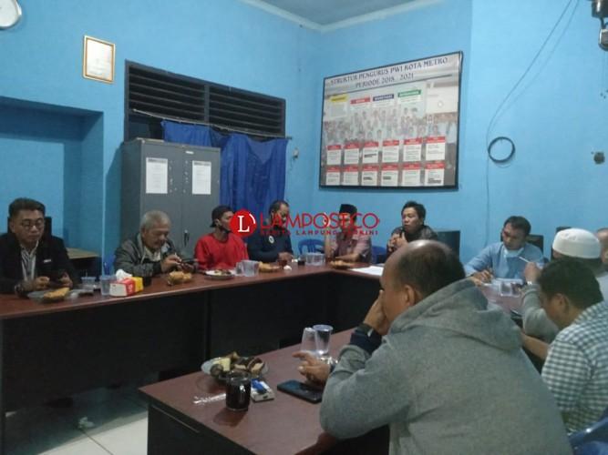 PWI Metro Gelar Rakor Persiapan HPN dan Bentuk Kepengurusan